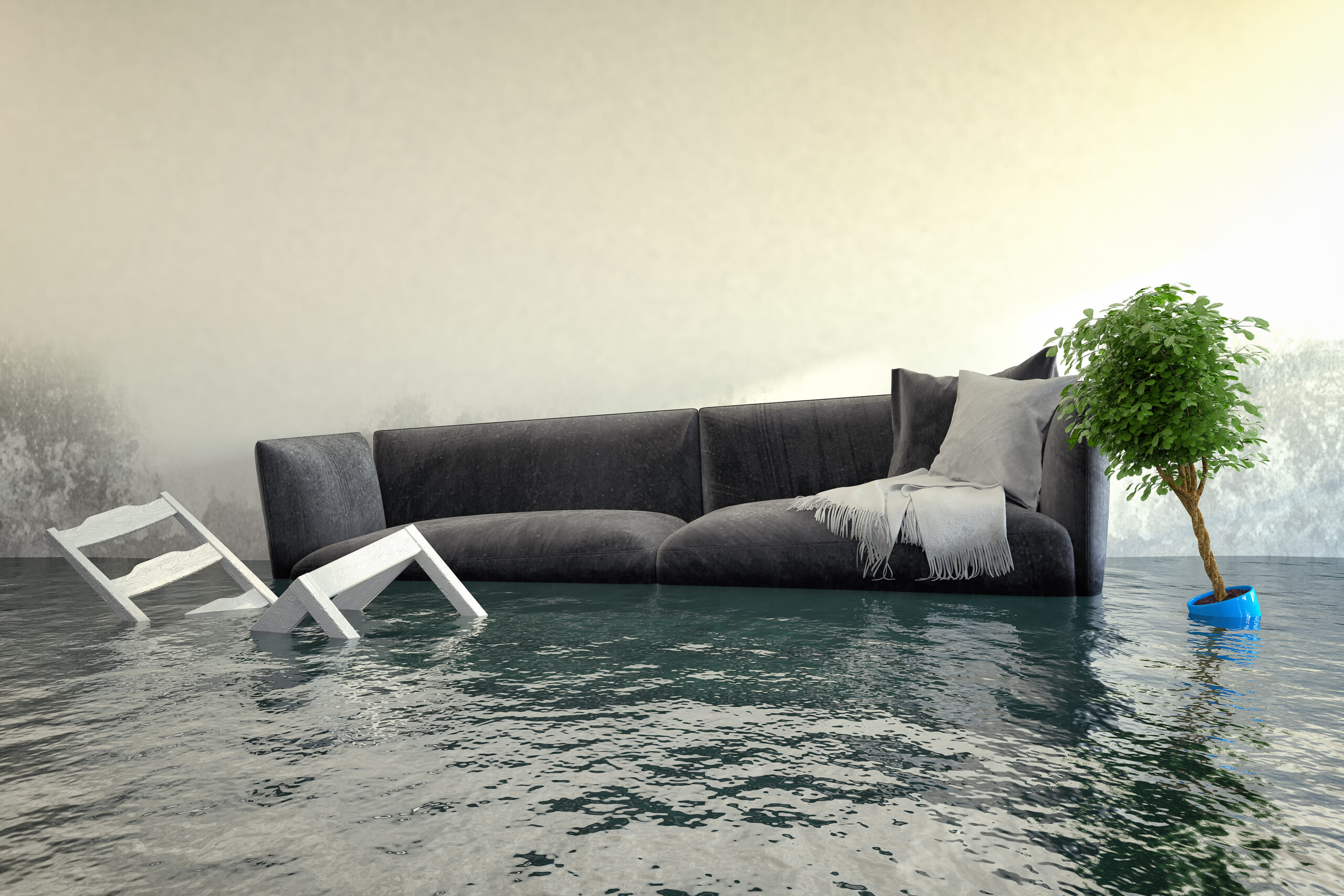 furniture floating in water